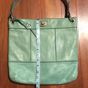 Green Fossil Purse or Bag